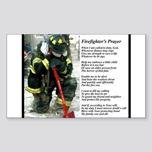 Old Version Firefighter Prayer Sticker (Rectangle)